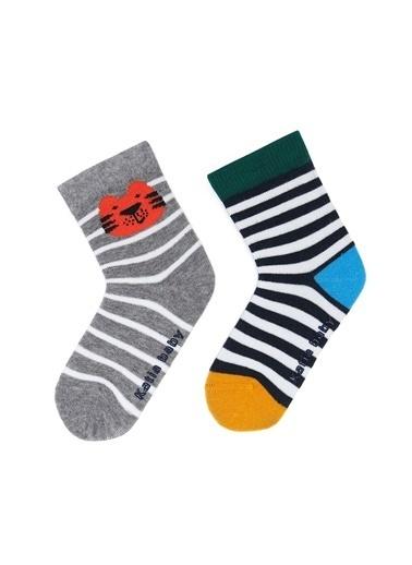 Katia & Bony Tiger 2Li Bebek Soket Çorap  Gri